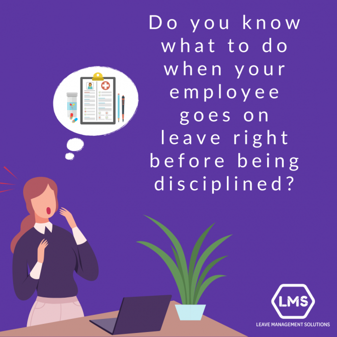 graphic design what to do when your employee goes on leave before being disciplined by BRIGHTSAND designs