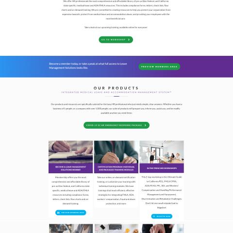 Leave Management Solutions website design
