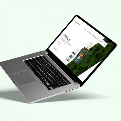 Portfolio Peppermint-Essential-Oil-Minimalist-Website