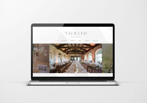 Portfolio Tickled Events Website