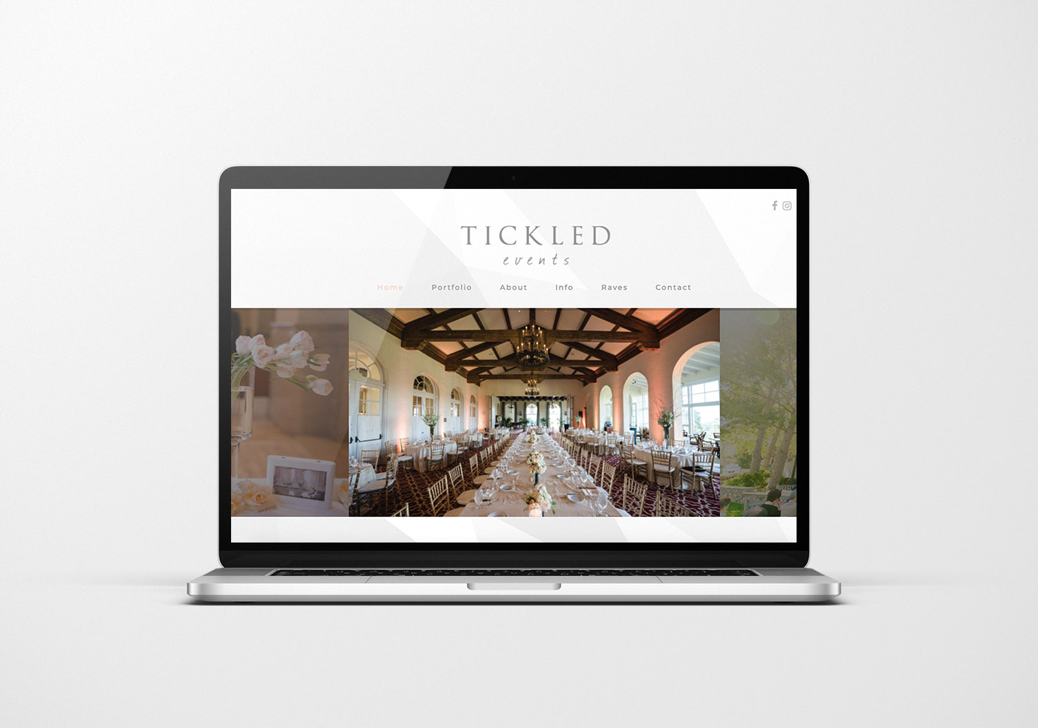 Portfolio Tickled Events Website