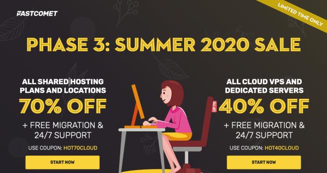 fastcomet hosting sale